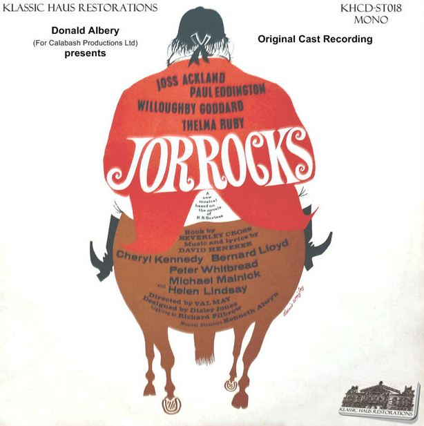"The 1966 cast album of ""Jorrocks."""