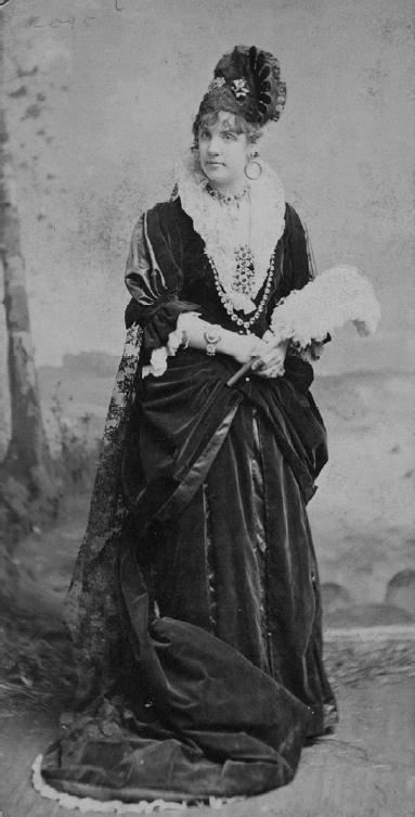 "Miss Ada Rehan as Donna Antonia in ""The Royal Middy,"" January 1880 at Daly's Theatre. (Photo: Archive Dario Salvi)"