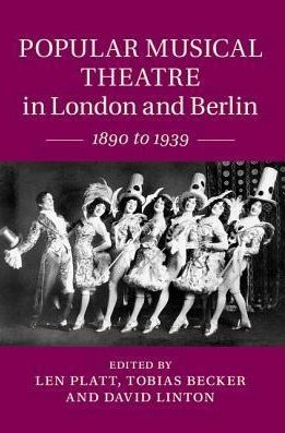 "Book cover ""Popular Musical Theatre in London and Berlin."""