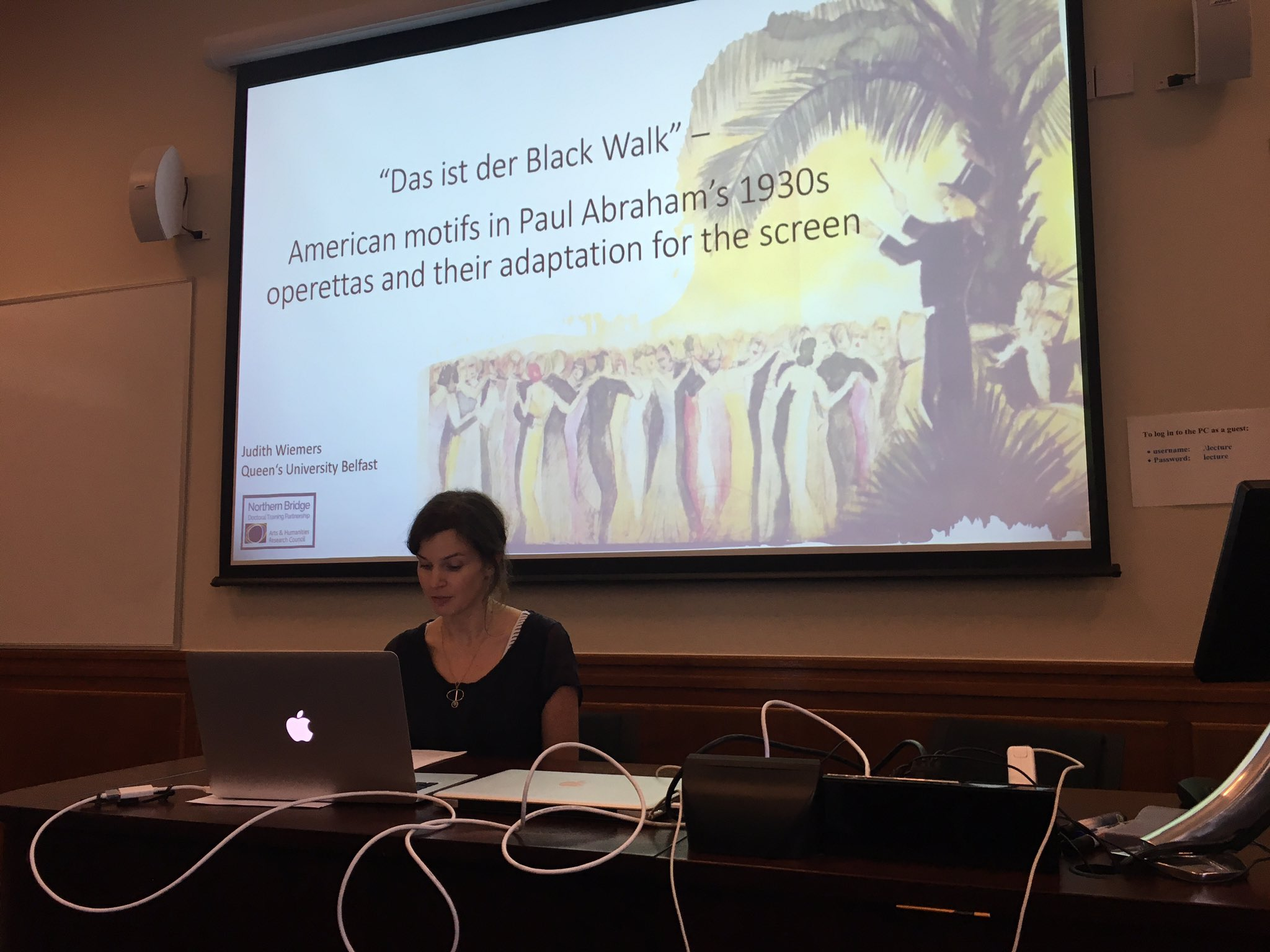 Judith Wiemers getting ready to present her talk on Abraham. (Photo: Judith Wiemers)