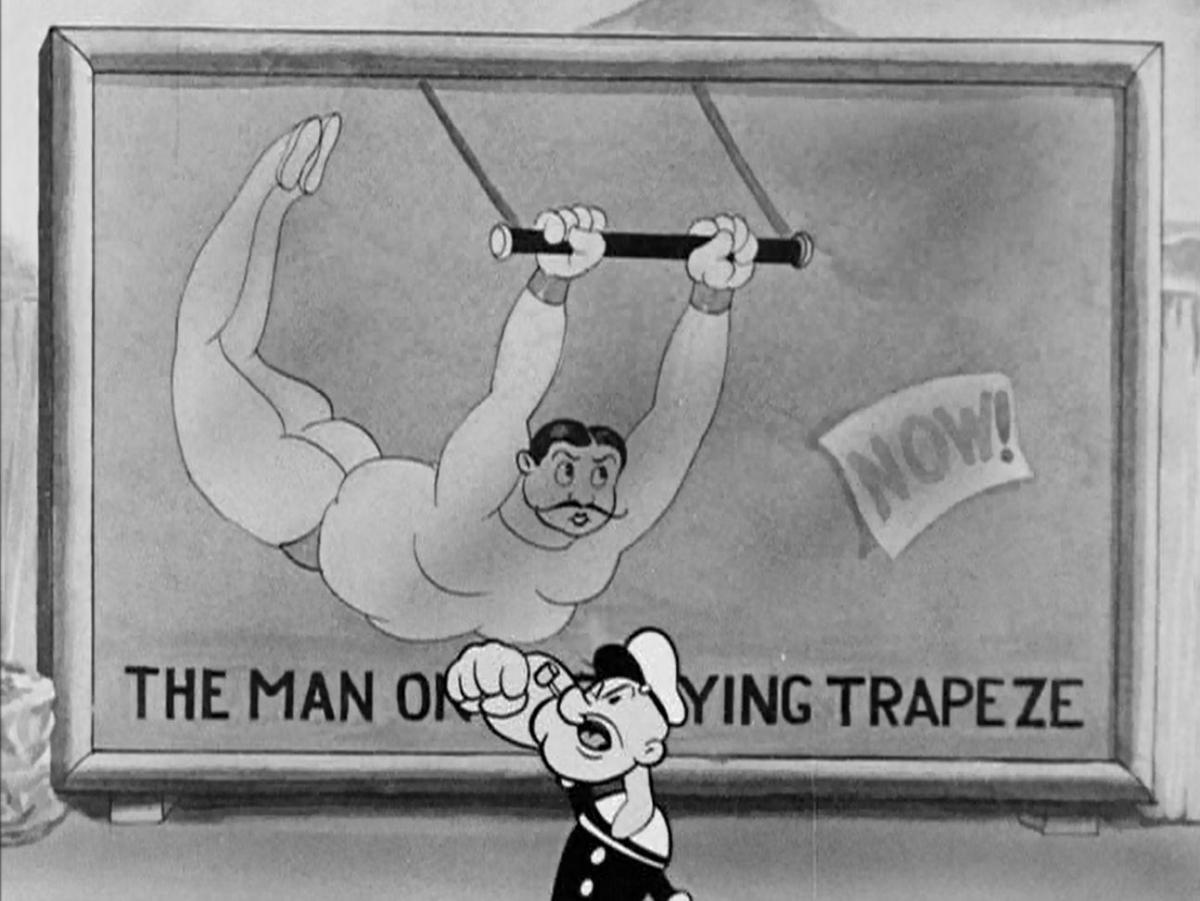 "Film still ""The Man on the Flying Trapeze."" (Photo: Judith Wiemers)"