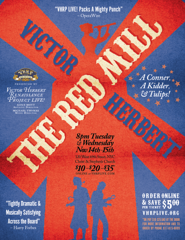 "The poster for the 2017 production of ""The Red Mill."""