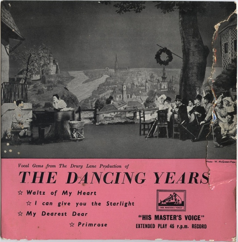 "LP cover of ""The Dancing Years"" by Ivor Novello. (Photo: Judith Wiemers)"