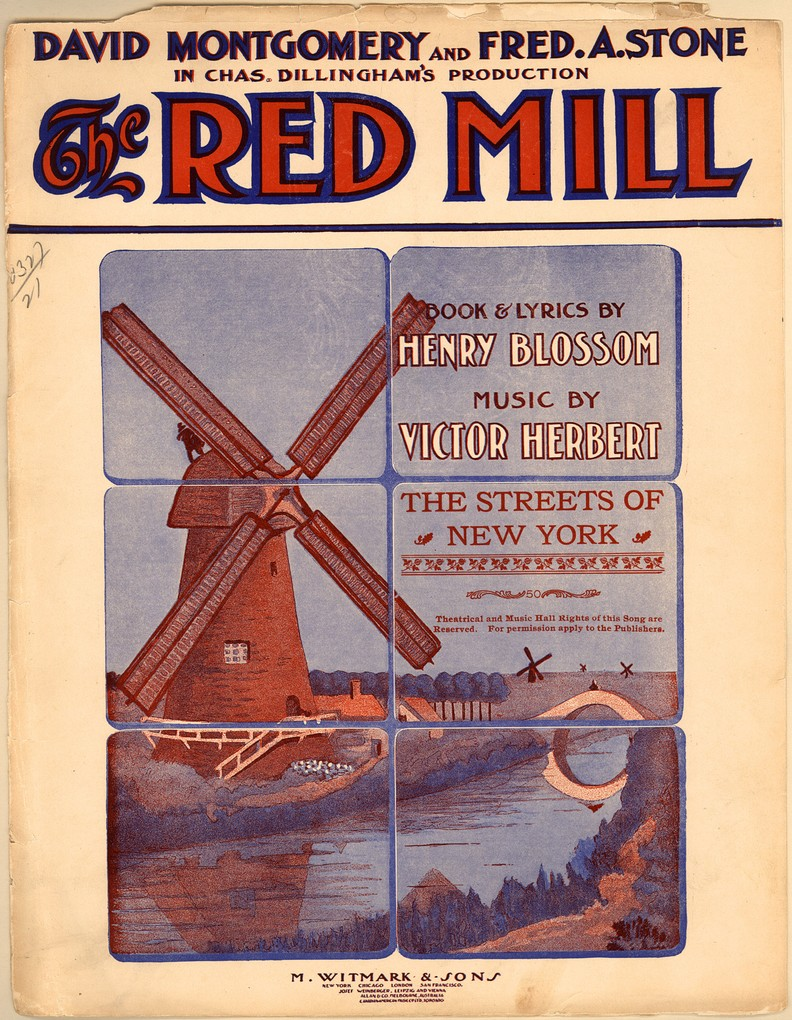 "The original ""Red Mill"" poster."