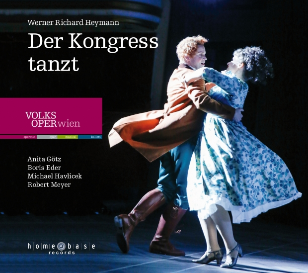 "The CD cover of ""Der Konhress tanzt"" from the Volksoper Vienna."