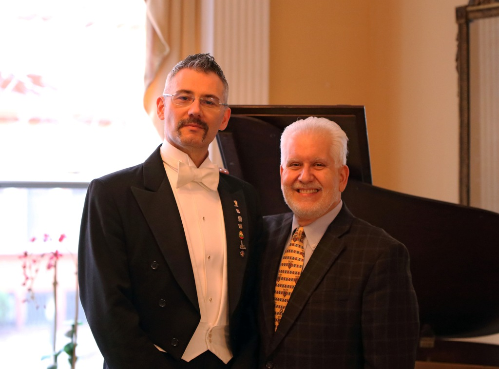 Conductor Dario Salvi from the UK and Daniel Pantano, executive director of Concert Operetta Theater. (Photo: Dario Salvi Archive)