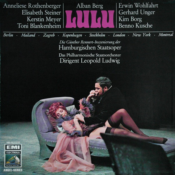 "The cover of the 1968 recording of ""Lulu"" from the Hamburg State Opera. (EMI)"