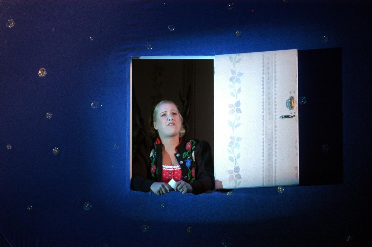 "The original 2003 Adele, Diana Damrau, in Dresden's ""Fledermaus"" at Semperoper. (Photo: Matthias Creutziger)"