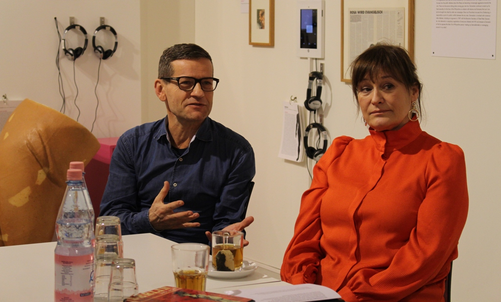 Christoph Marti (l.) and Andreja Schneider at Schwules Museum. (Photo: Juan Carlos Rosa)