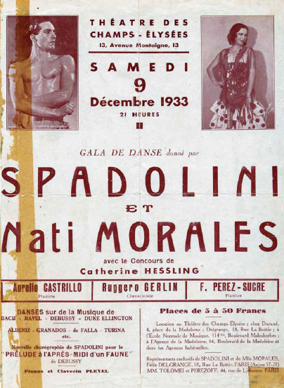 Poster for a 1933 performance of Alberto Spadolini in France. (Photo: Atelier Alberto Spadolini)