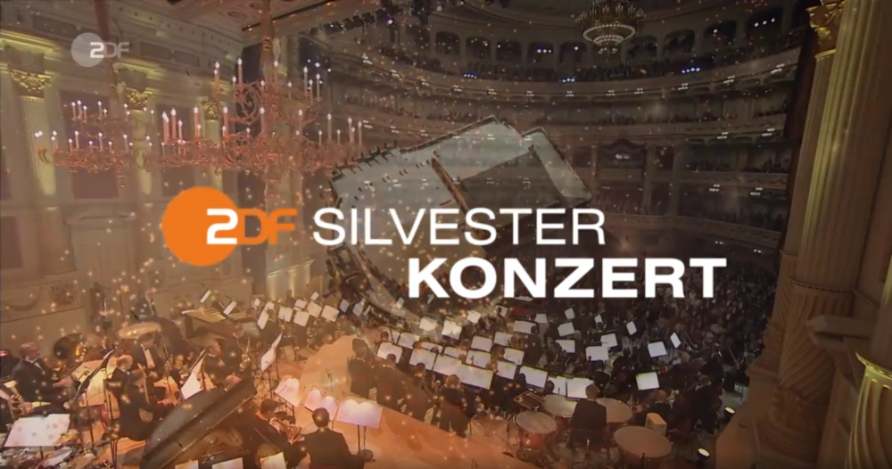 Opening titles of the 2017 New Year's concert from Dresden in ZDF. (Photo: Screenshot)