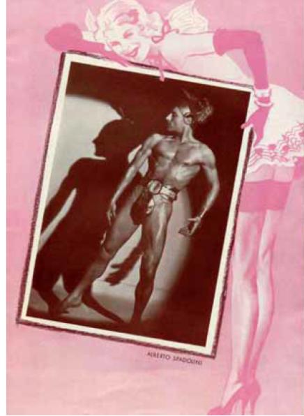 """Alberto Spadolini: The Nude Spy & Dancer From """"Die lustige Witwe"""" 1940"""