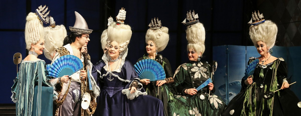 "The ladies in ""Eine Nacht in Venedig"" at Volksoper Wien. (Photo: Barbara Pálffy/Volksoper Wien)"