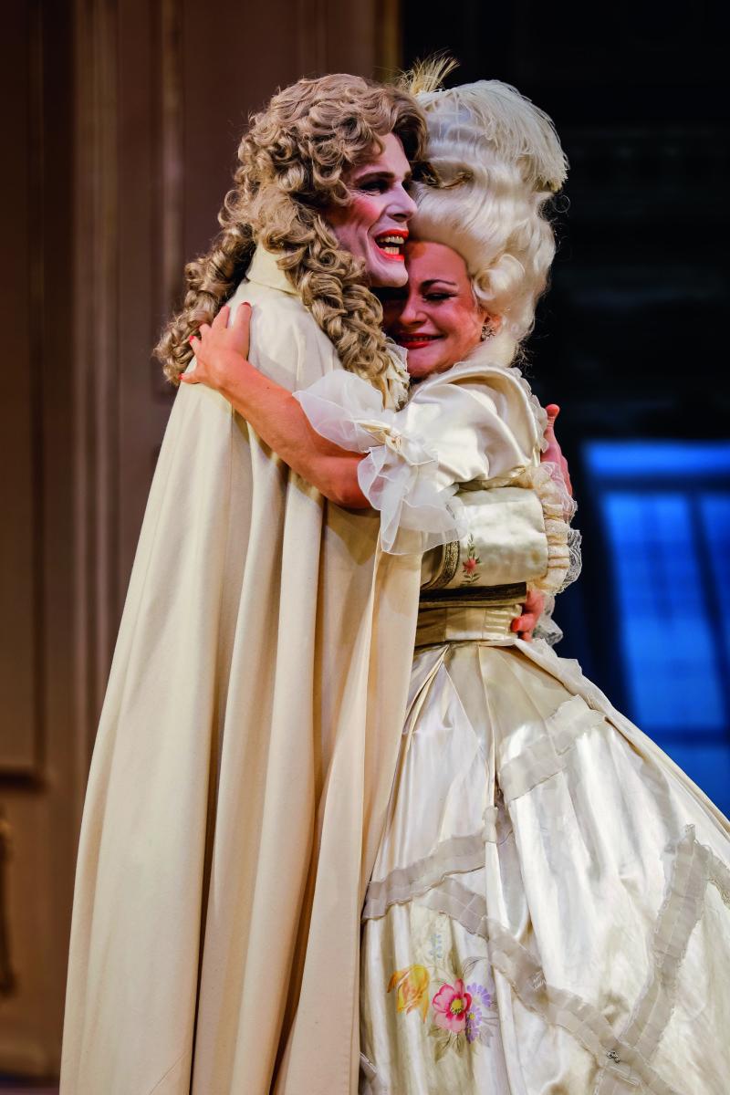 "Reinhard Alessandri and Miriam Portmann in ""Die Kaiserin"" at Theater Baden. (Photo: Christian Husar/www.christian-husar.com)"