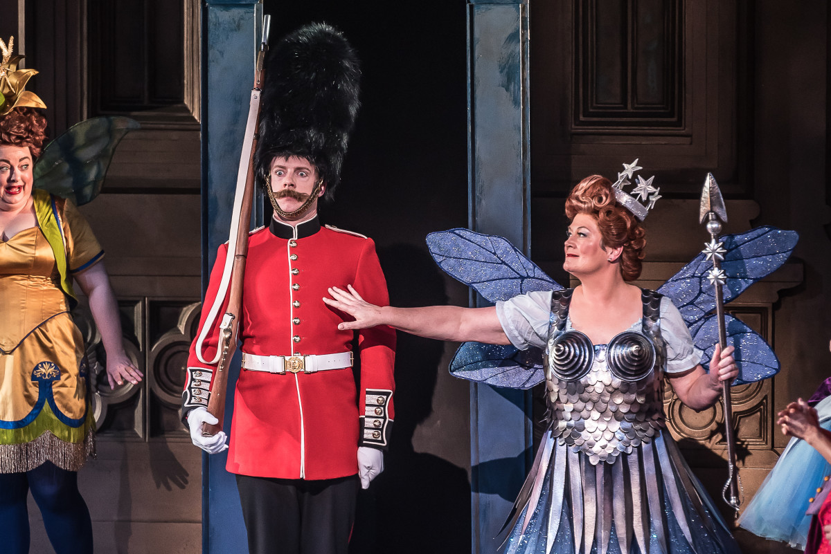 """""""Iolanthe"""" at English National Opera, with Claire Pendleton, Banaby Rea, Yvonne Howard (left to right). (Photo: CLIVE BARDA/ArenaPAL)"""