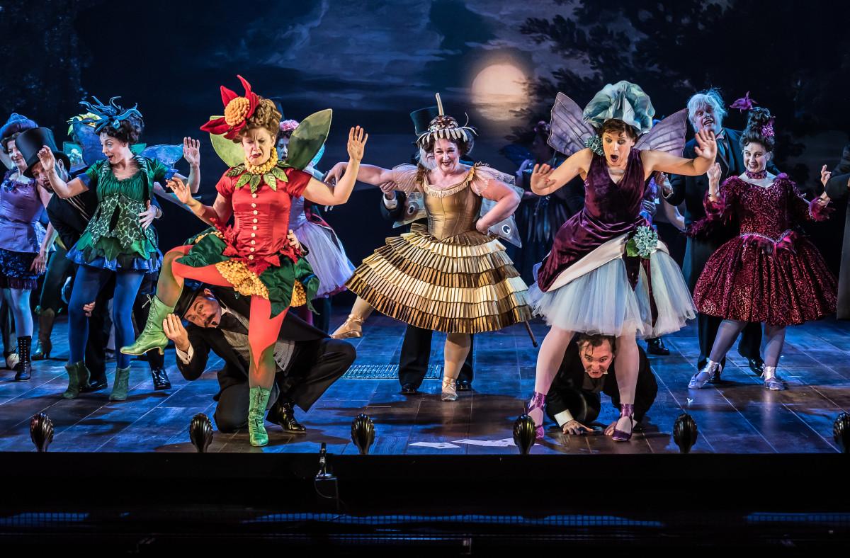 """The ENO chorus in """"Iolanthe"""" at English National Opera, 2018. (Photo: CLIVE BARDA/ArenaPAL)"""