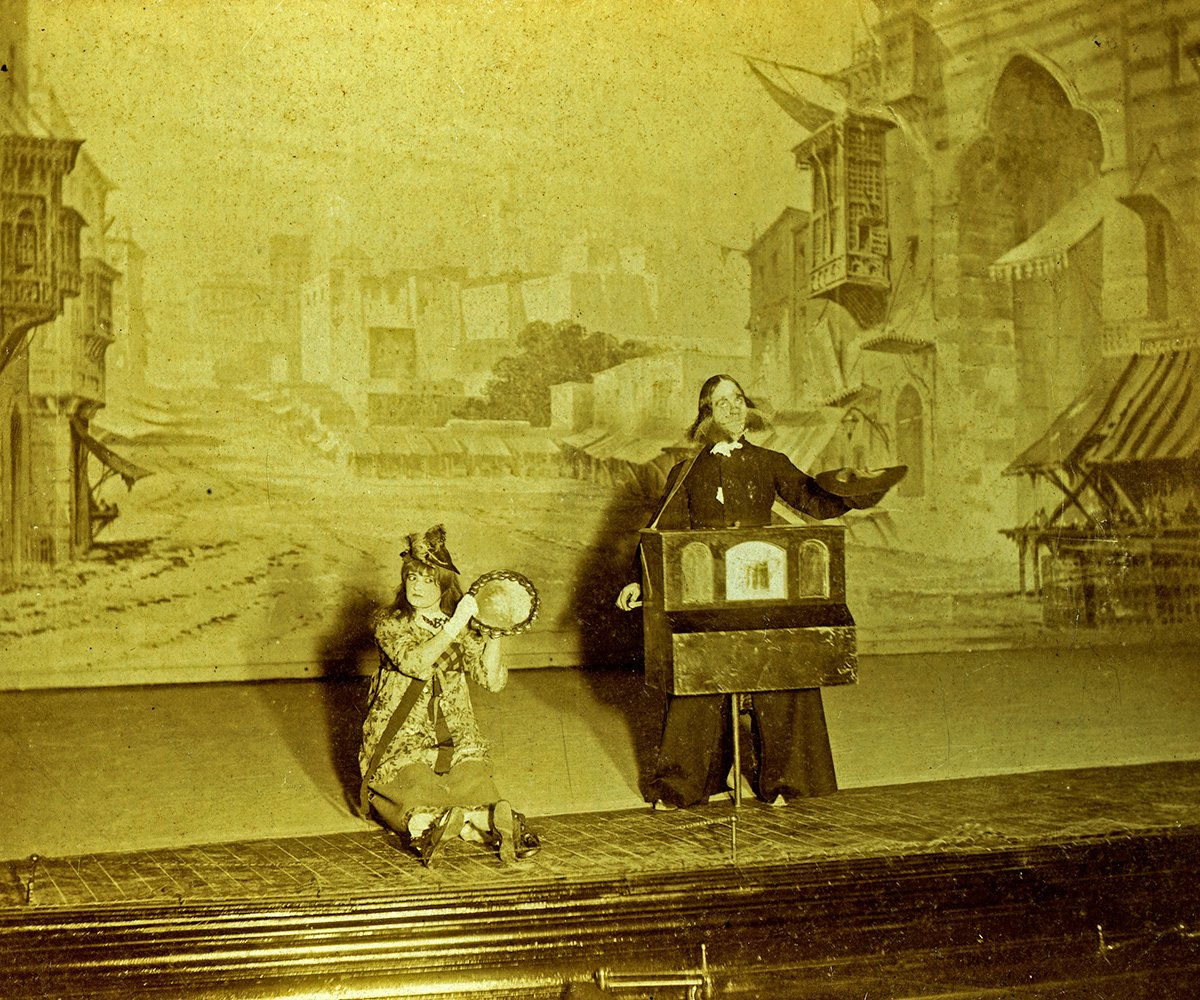 "Scene from the 1894 production of ""Tabasco."""