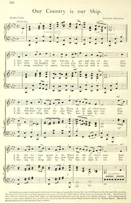 "Sheet music for ""Our Country is our Ship."" (Photo: Kurt Gänzl Archive)"