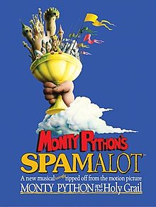 "The poster for the Monty Python musical ""Spamalot."""