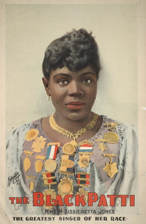 """The Black Patti, Mme. M. Sissieretta Jones the greatest singer of her race."" Published 1899."
