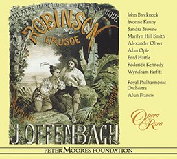 "The Opera Rara recording of Offenbach's ""Robinson Crusoe."""