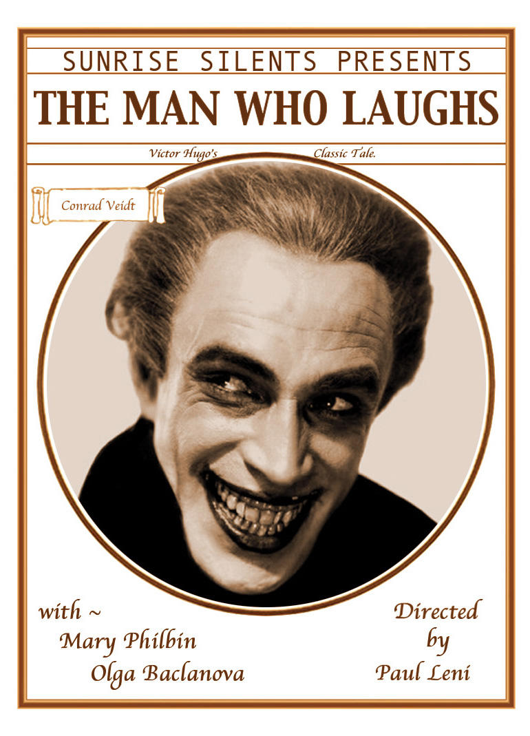 "1928 film adaptation of Victor Hugo's ""L'Homme qui rit"" with Conrad Veidt as Gwynplaine."
