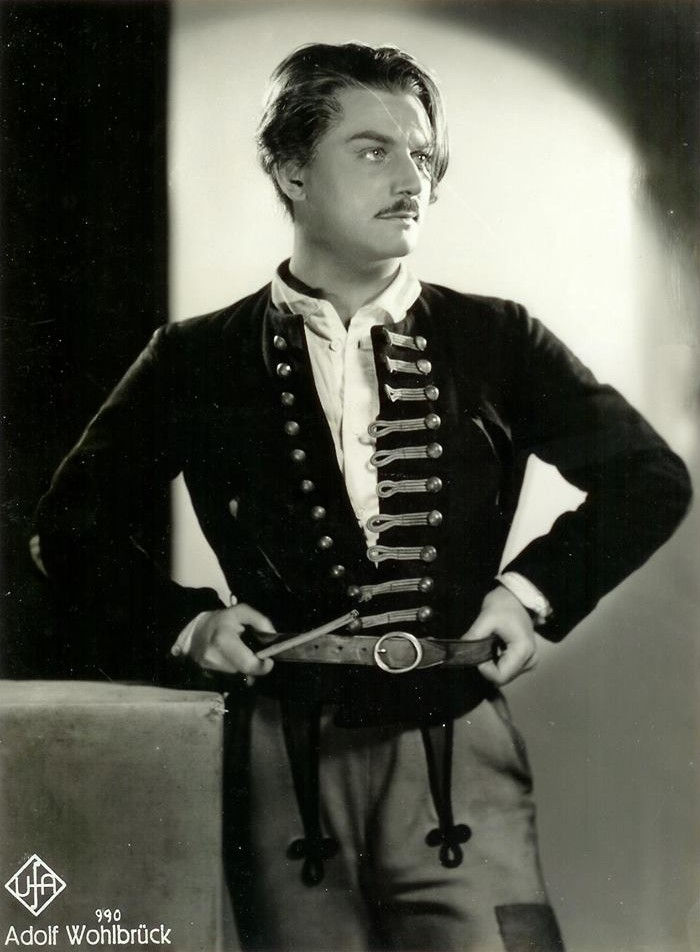"Adolf Wohlbrück in a 1935 UFA publicity shot for ""Zigeunerbaron."" A ""flotter Geist"" indeed."