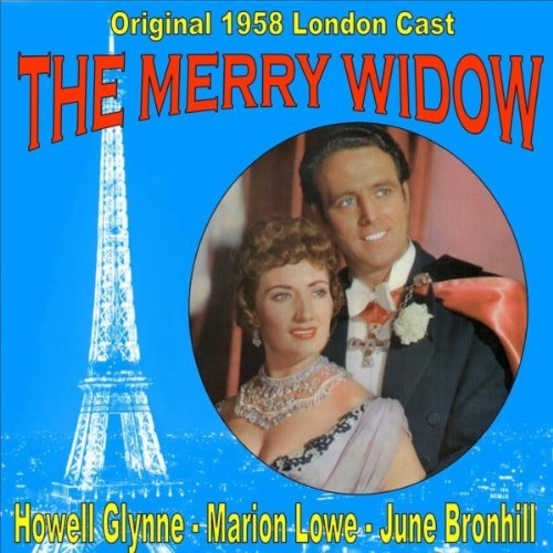 "LP cover for the 1958 London production of ""The Merry Widow"" tarring June Bronhill."