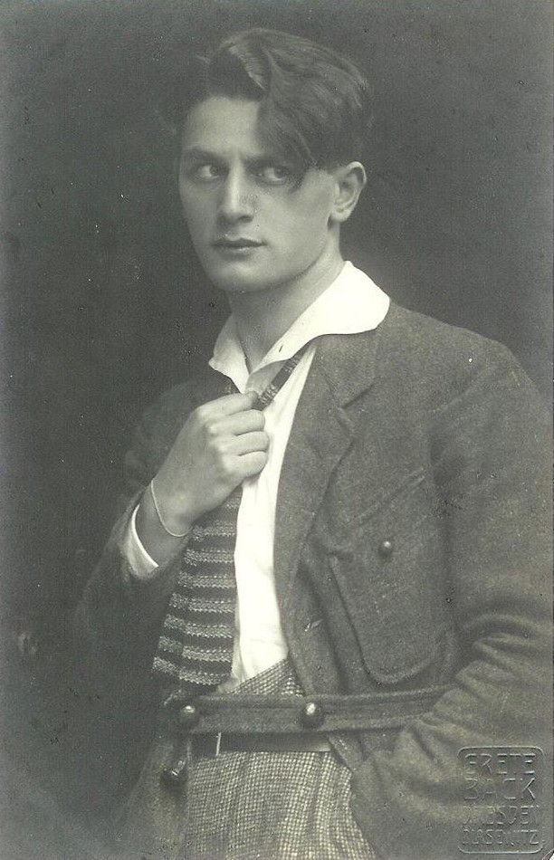 "Photo of the young Adolf Wohlbrück, posted on ""Adonises of the Silver Screen."""