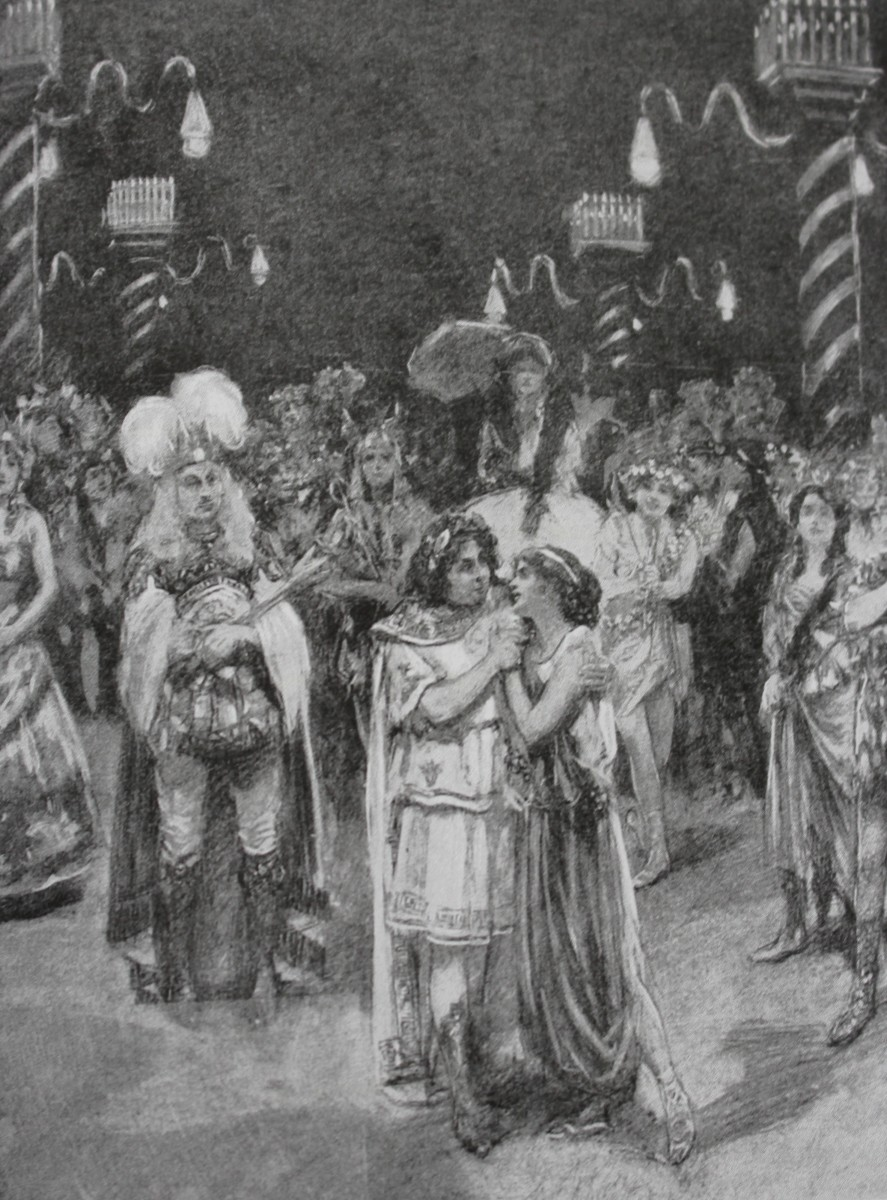 "The finale of Herbert Beerbohm Tree's ""Orpheus in the Underworld"" at His Majesty's Theater in London, 1911. (From: Laurence Senelick, ""Jacques Offenbach and the Making of Modern Culture,"" 2018)"