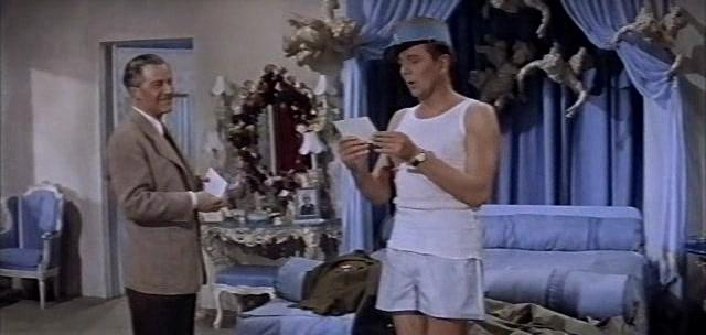 "Michael Redgrave (r.) and Adolf Wohlbrück in ""Oh Rosaldinda!"" 1955. (Screenshot)"