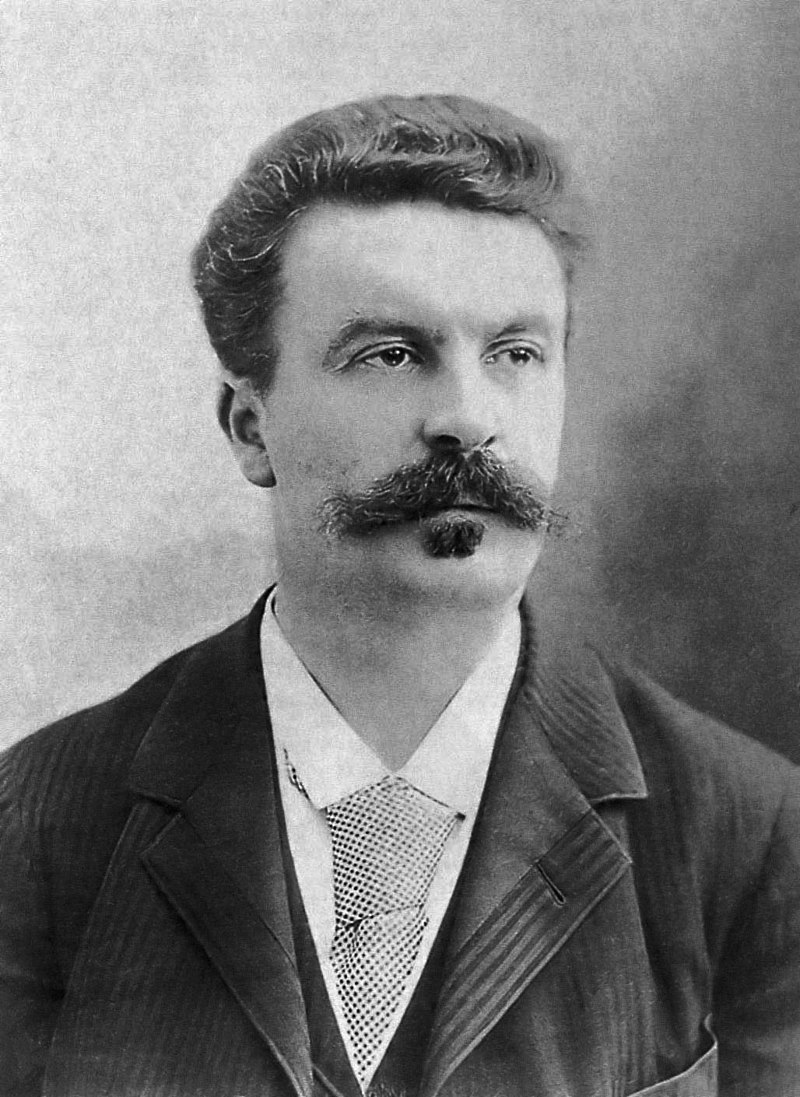 Guy de Maupassant photographed by Félix Nadar in 1888.