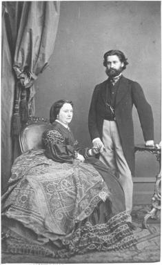 The dashing young composer Johann Strauss and his wife Jetty Treffz, 1862.