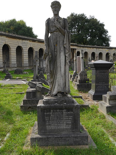 The toomb stone of Blanche Roosevelt at Brompton Cemetery, London. (Photo: Edwardx / Wikipedia.com)