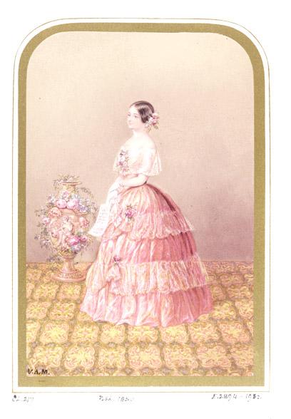 Jetty Treffz in 1850, as depicted by George Baxter.