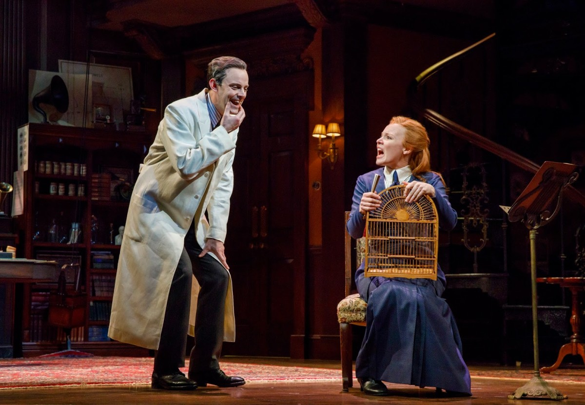 "Lauren Ambrose as Eliza and Harry Hadden-Paton as Henry Higgins in the 2018 ""My Fair Lady"" at Lincoln Center. (Photo: Joan Marcus)"