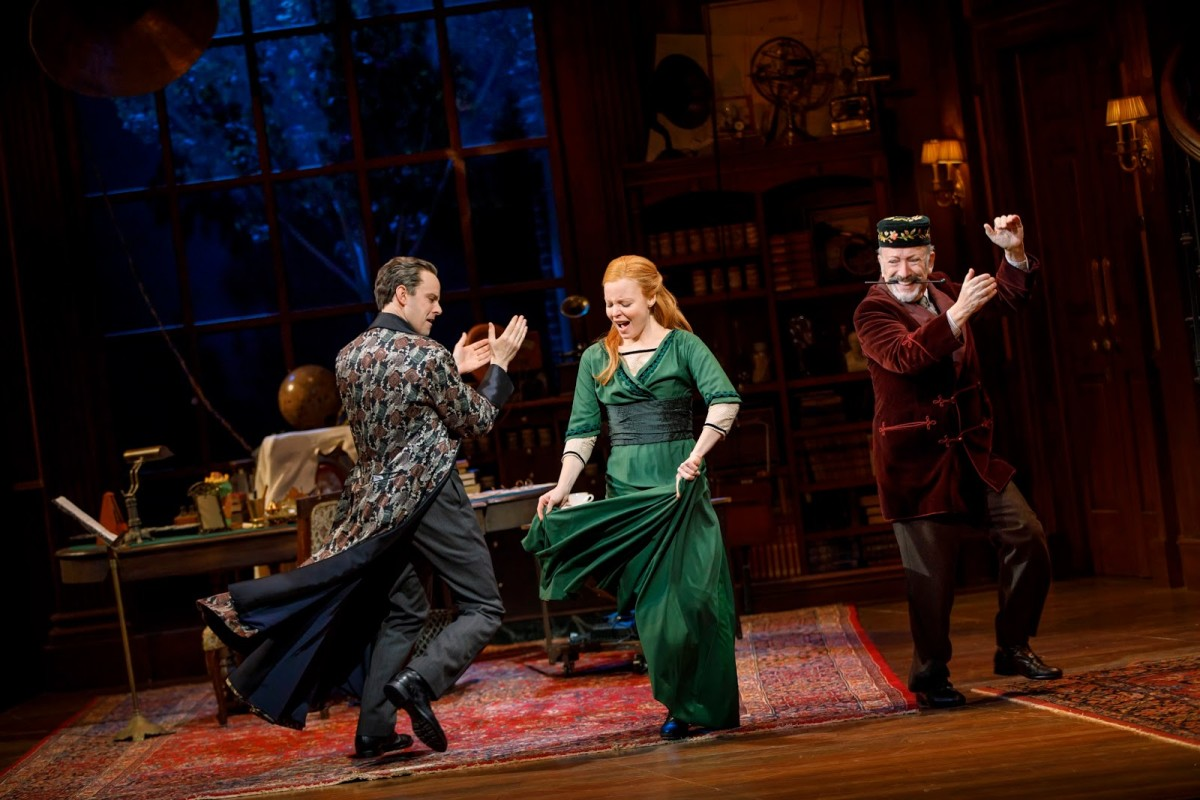 "Harry Hadden-Paton, Lauren Ambrose, and Allan Corduner as Pickering in the 2018 ""My Fair Lady."" (Photo: Joan Marcus)"