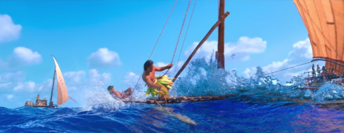 "Sailing scene from the movie ""Moana,"" 2016. (Photo: Disney/Screenshot)"