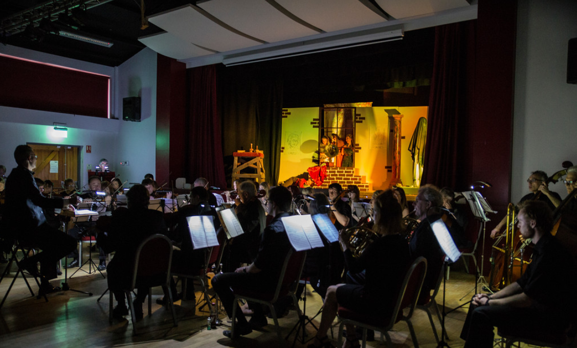 """The Beautiful Galatea"" production in Norwich, with The Imperial Vienna Orchestra conducted by Dario Salvi. (Photo: Mark Stimpson Photography)"