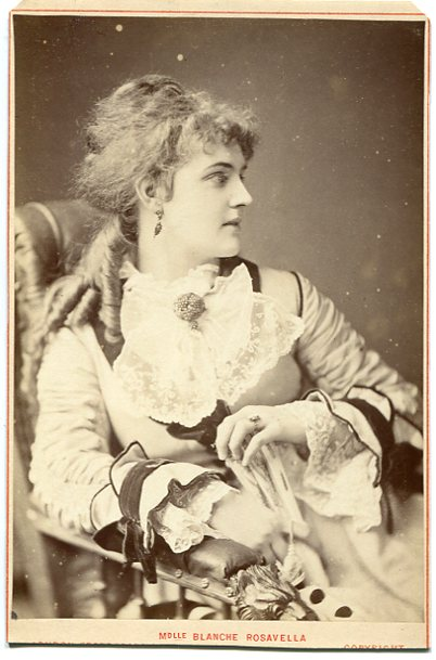 "Blanche Roosevelt portrayed as ""Madame Rosavella."" (Photo: Kurt Gänzl Collection)"