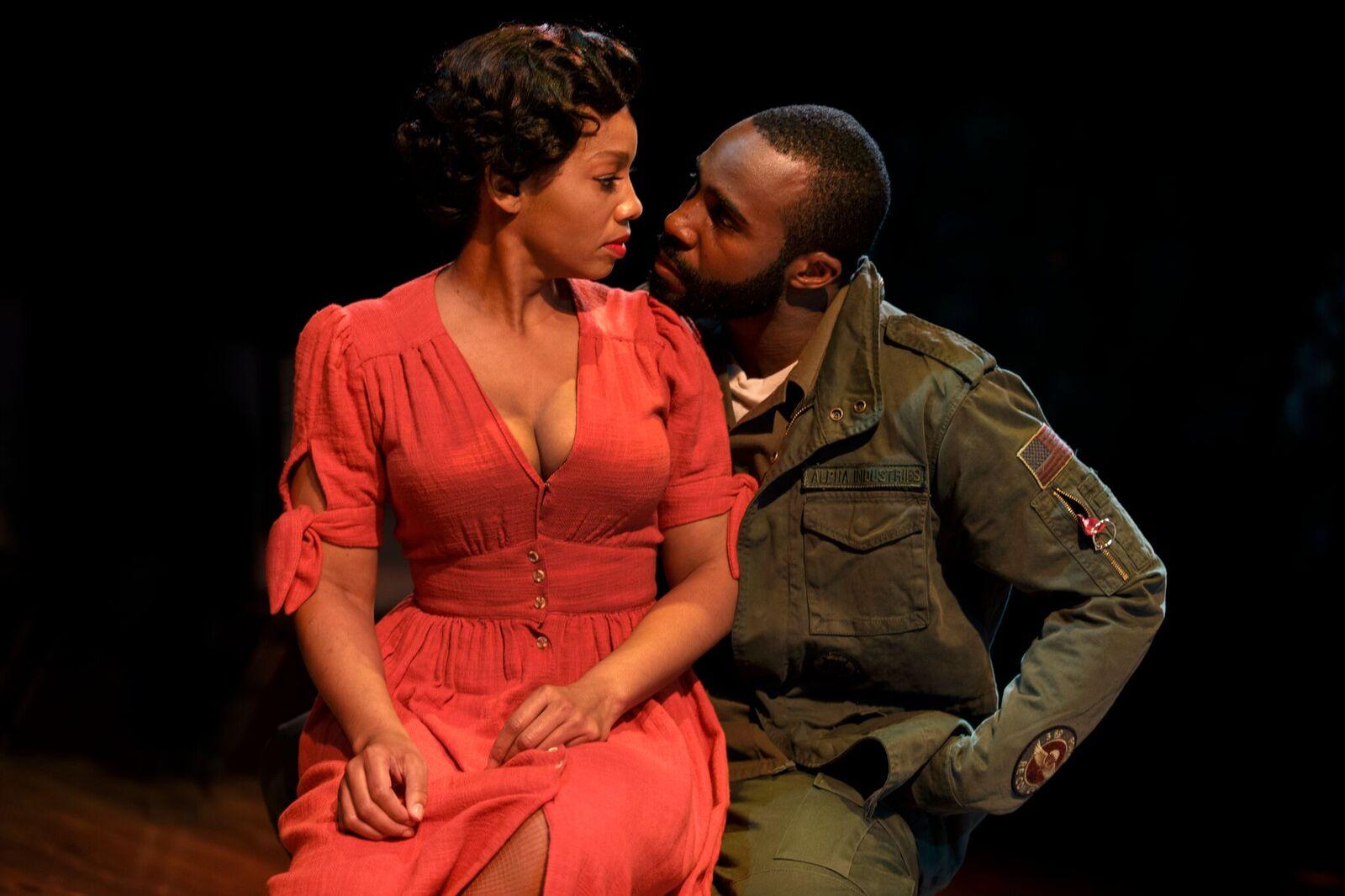 "Anika Noni Rose and Tramell Tillman in  ""Carmen Jones."" (Photo: Joan Marcus)"