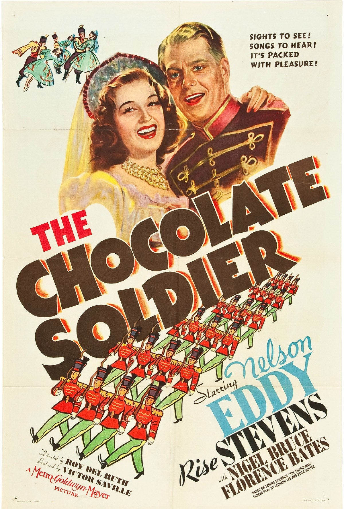 "Film poster for the 1941 Hollywood version of ""The Chocolate Soldier."""