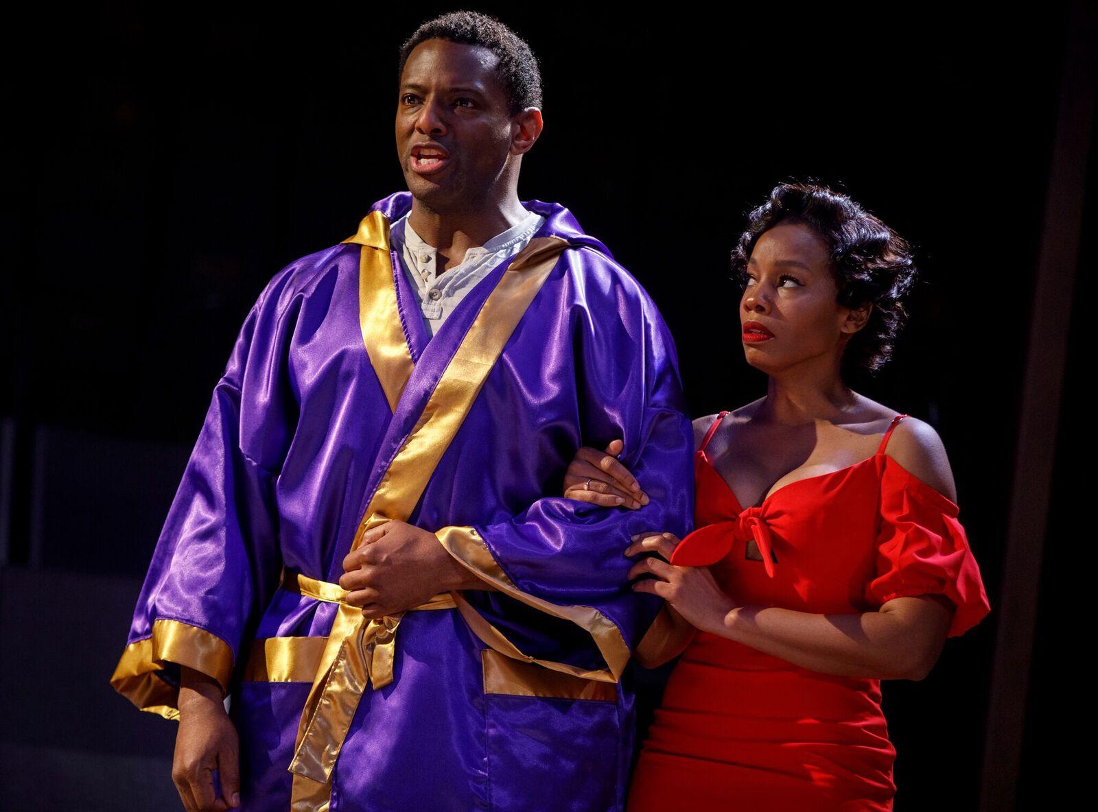 "David Aron Damane and Anika Noni Rose in ""Carmen Jones."" (Photo: Joan Marcus)"