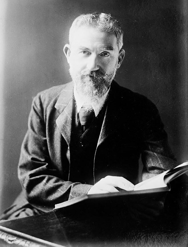 George Bernard Shaw at his desk in 1911.
