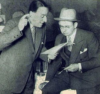 Librettist Kurt Schwabach (left) with Willy Rosen in the 1920s.