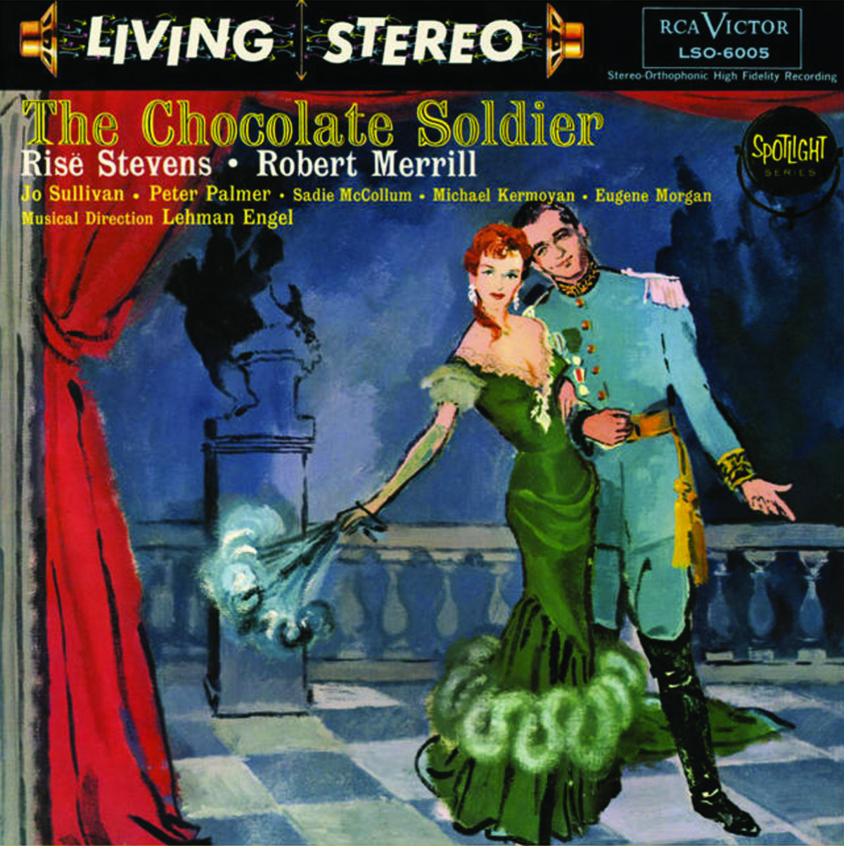 "The RCA album of ""The Chocolate Soldier"" starring Risë Stevens and Robert Merrill."