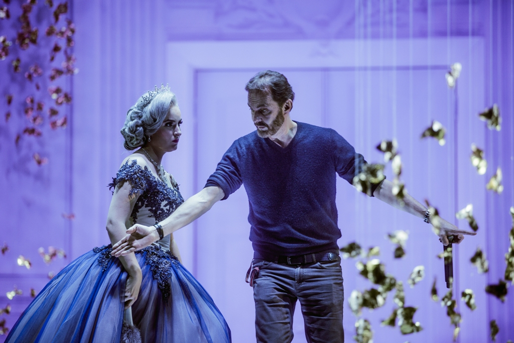"Choreographer Giorgio Madia at work with Maria Listra as Franzi in ""Wiener Blut."" (Photo: Gabriela Liivamaegi)"
