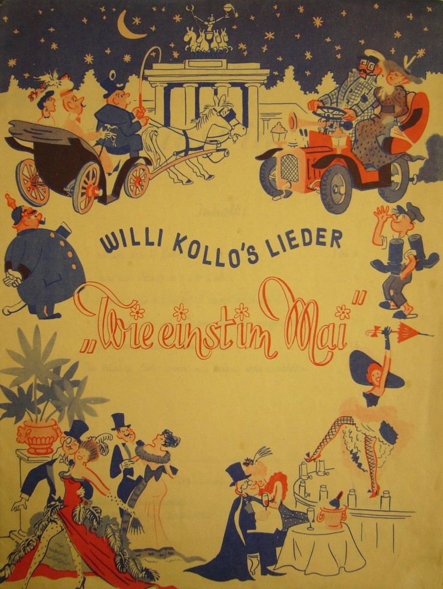 "Song selection from Willi Kollo's 1943 version of ""Wie einst im Mai."""
