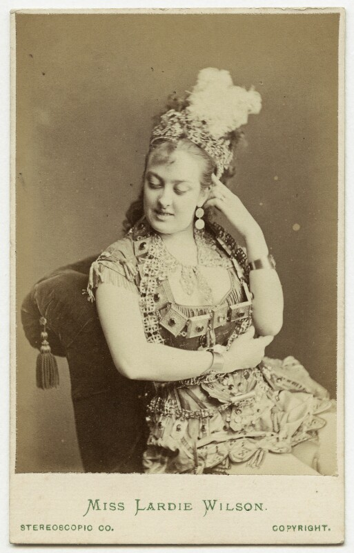Lardie (Lardy) Wilson, by London Stereoscopic & Photographic Company, carte-de-visite, 1874 or before. (Photo: National Portrait Gallery, London)