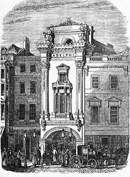 The New Adelphi Theatre could seat 1,500 people with an additional 500 standing. It opened in 1868.